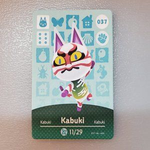 037 Kabuki Amiibo Card Animal Crossing Custom